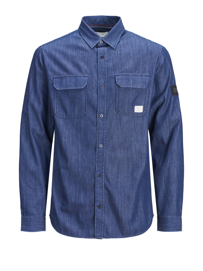 WORKWEAR STYLE CORE SHIRT DARK BLUE DENIM