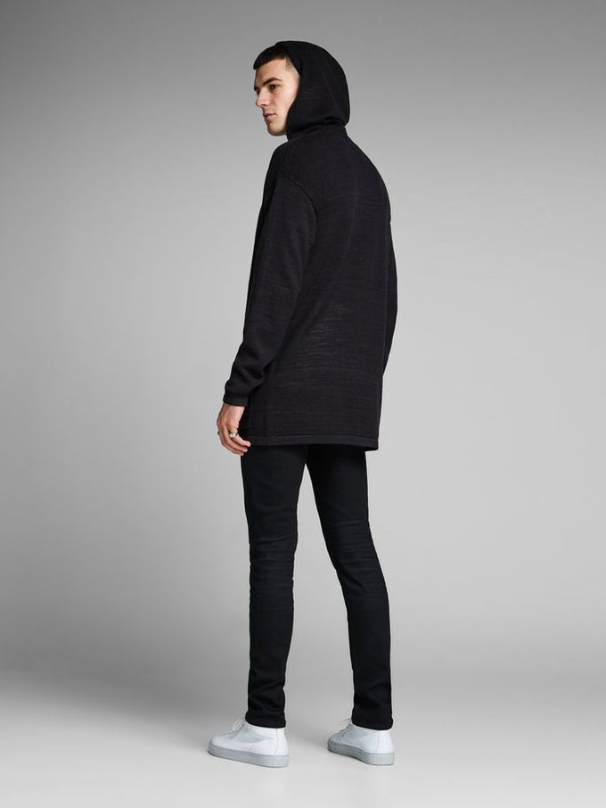 OVERSIZE HOODED CARDIGAN TAP SHOE