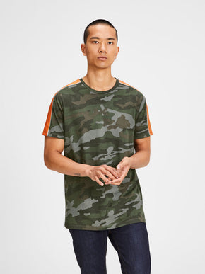T-SHIRT WITH CAMO DETAILS