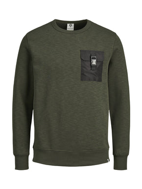 SWEATSHIRT WITH CLIPPED POCKET