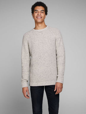 FLECKED WOOL BLEND SWEATER