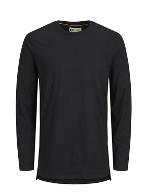 HIGH-LOW TAPE DETAIL LONG SLEEVE T-SHIRT