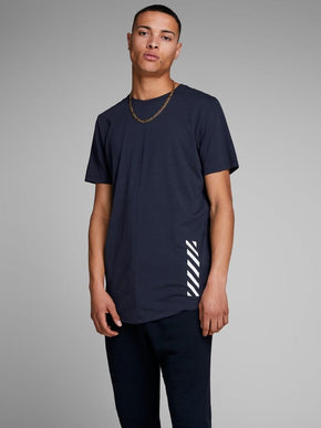 LONG FIT T-SHIRT WITH MESH INSERTS