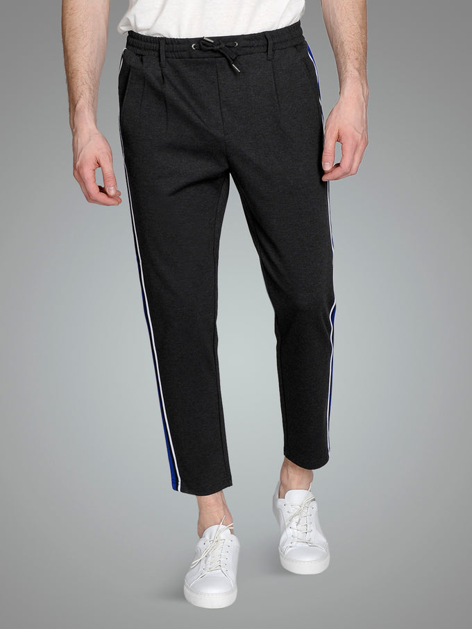 ATHLETIC STYLE TAPERED JOGGERS DARK GREY MELANGE