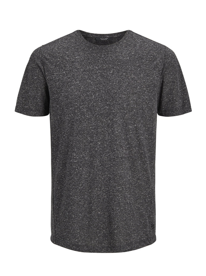 LONG FIT TWO-TONE PREMIUM T-SHIRT BLACK