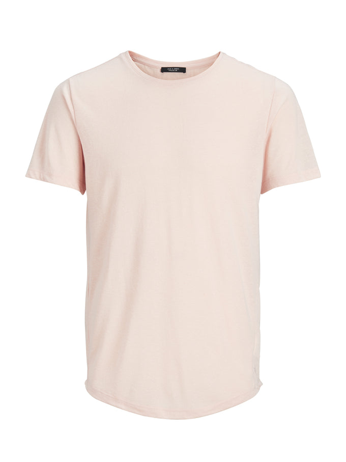 LONG FIT TWO-TONE PREMIUM T-SHIRT PALE BLUSH