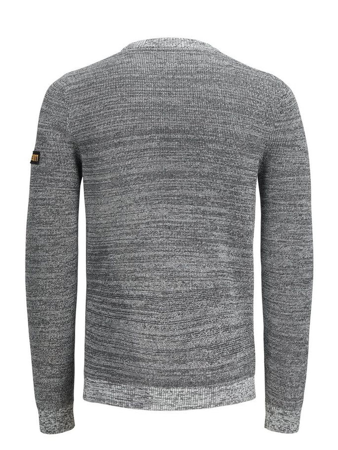 CORE POCKET SWEATER LIGHT GREY MELANGE