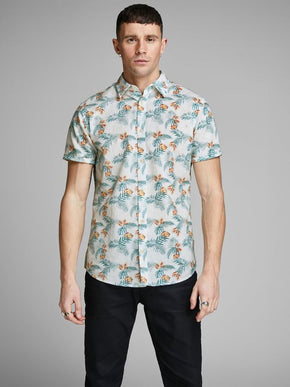 LINEN TROPICAL SHORT SLEEVE SHIRT