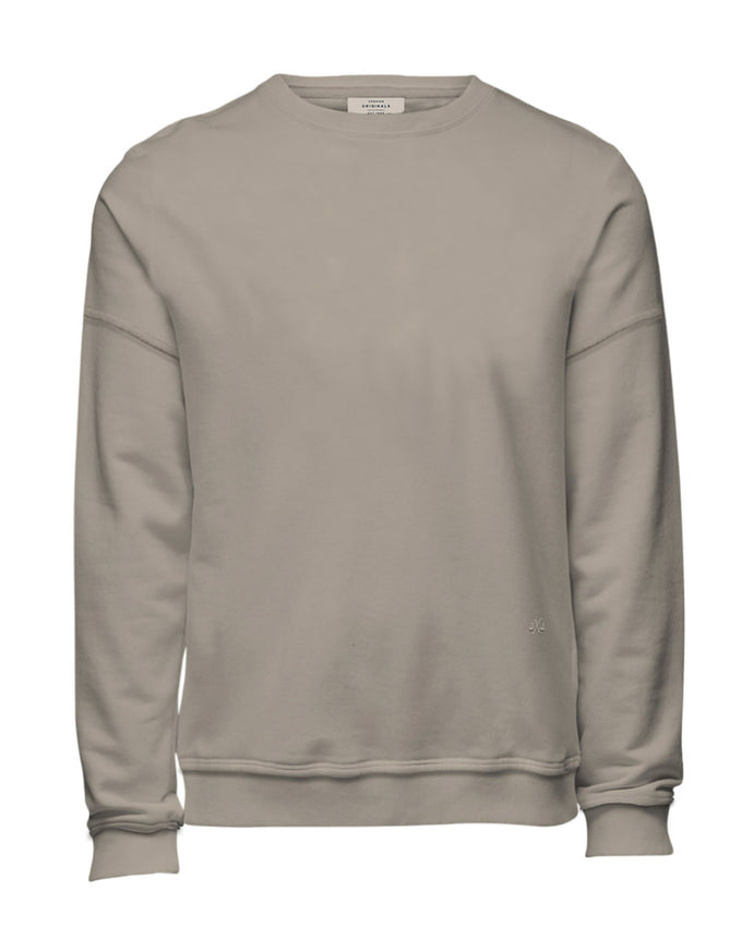 OVERSIZE BASIC SWEATSHIRT FEATHER GRAY