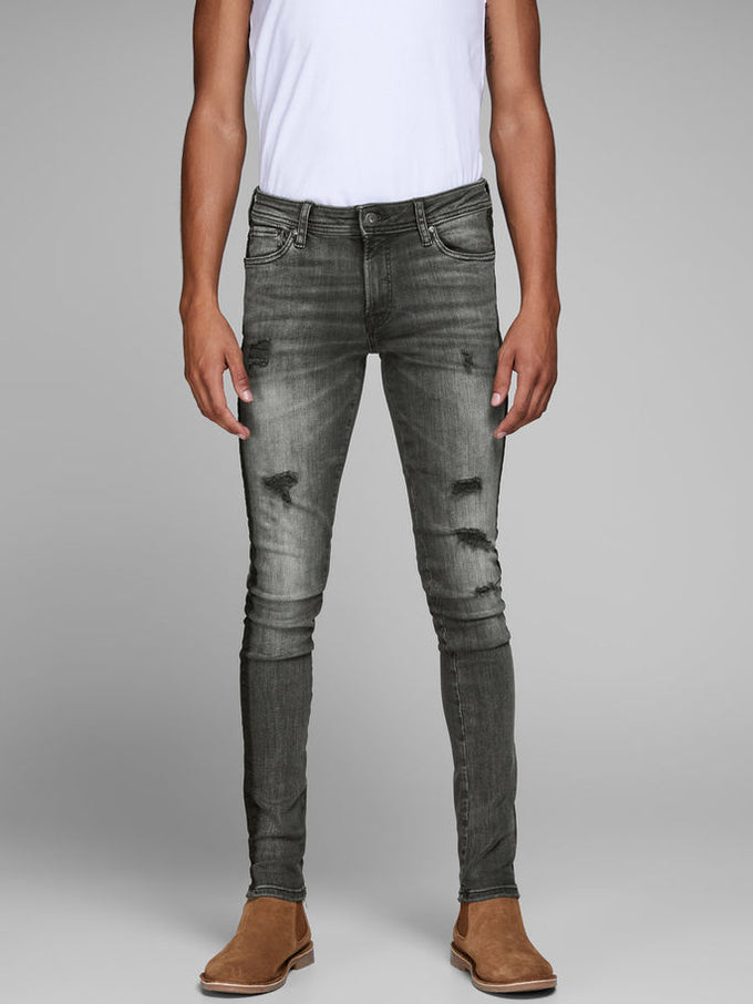 SKINNY FIT STRIPED LIAM 772 JEANS BLACK DENIM