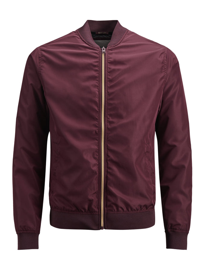 BOMBER JACKET WITH GOLDEN ZIPPER PORT ROYALE