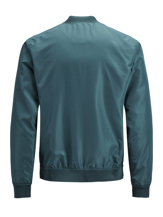 BOMBER JACKET WITH GOLDEN ZIPPER Deep Teal