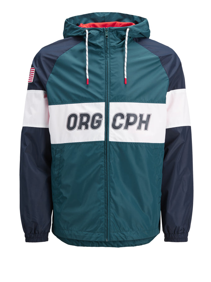 USA FLAG COLOURBLOCK JACKET DEEP TEAL