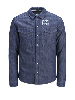 DARK BLUE DENIM OVERSHIRT