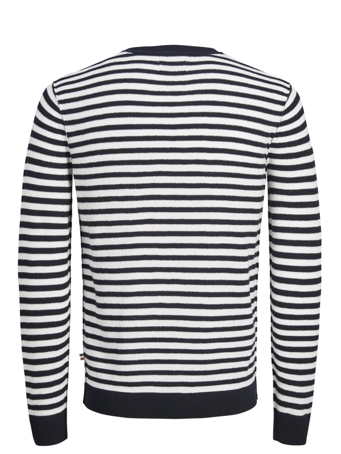 NAUTICAL STRIPES SWEATER CLOUD DANCER