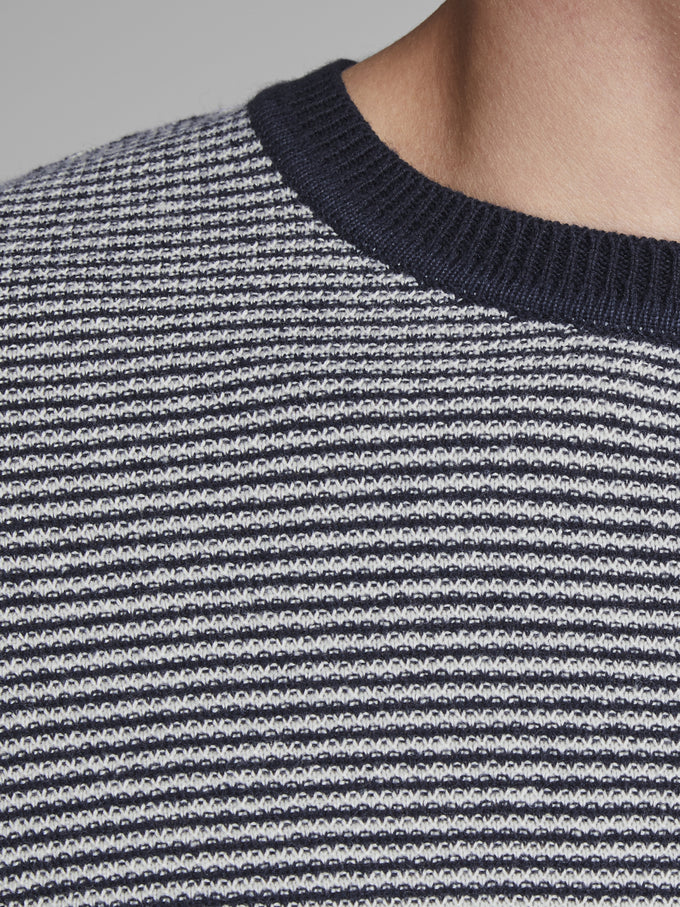 NAUTICAL STRIPES SWEATER WHISPER WHITE