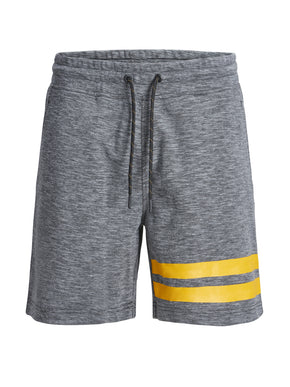 HEATHERED SHORTS WITH STRIPES