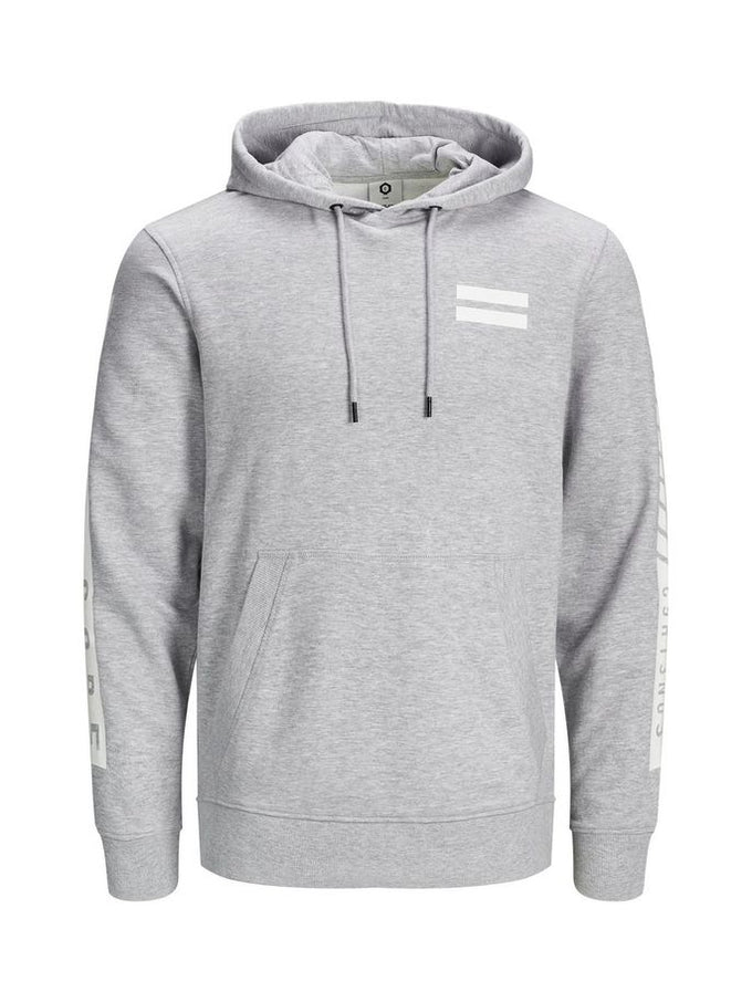 URBAN MAP HOODIE LIGHT GREY MELANGE