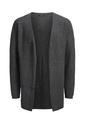 WOOL-BLEND OPEN CARDIGAN