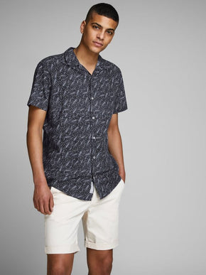 PALM PRINT VISCOSE SHIRT