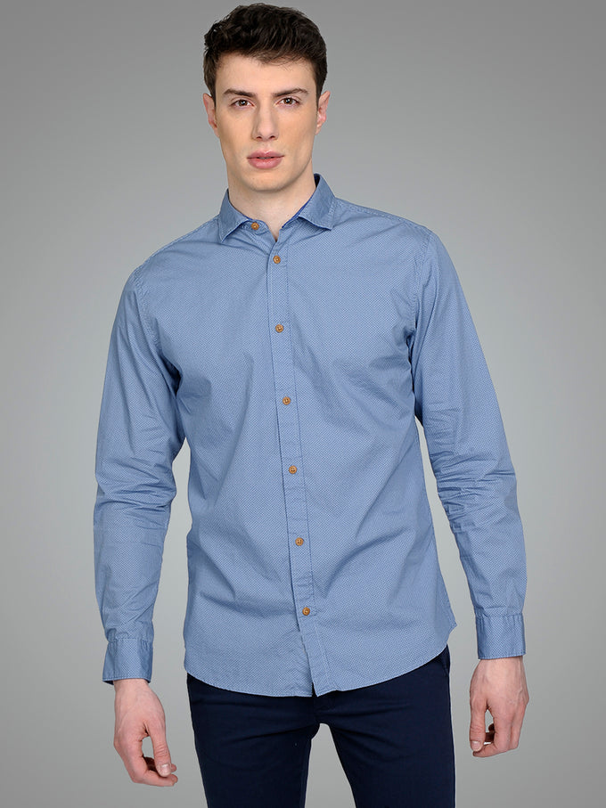 PREMIUM SLIM FIT PATTERNED SHIRT PIGEON