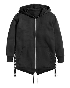 LONG FIT HOODIE WITH TAPE DETAILS