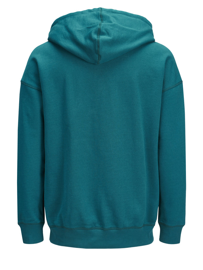 OVERSIZE SPRAY PAINT HOODIE DEEP TEAL