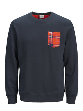 ORIGINALS SWEATSHIRT WITH TARTAN DETAILS