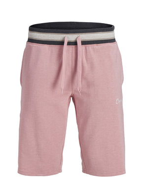 SWEAT SHORTS WITH STRIPED WAISTBAND