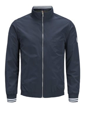 BOMBER JACKET WITH STAND-UP COLLAR