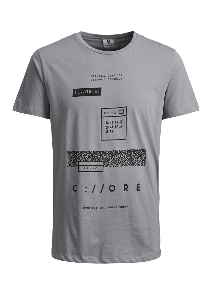 NUMERIC PRINT CORE T-SHIRT MONUMENT