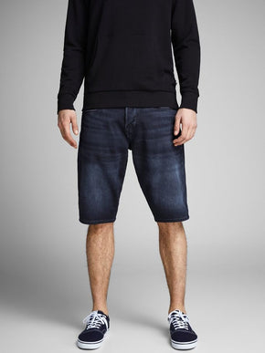 RICK 928 LONG DENIM SHORTS WITH AN ELASTIC WAISTBAND