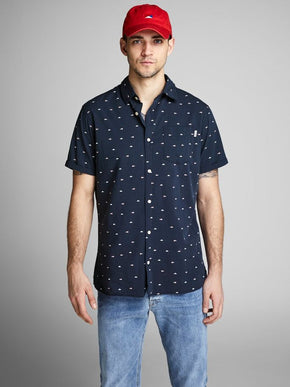 SAILOR PRINT SHORT SLEEVE SHIRT
