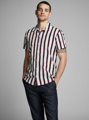 b03026ab VERTICAL STRIPE SHORT SLEEVE SHIRT