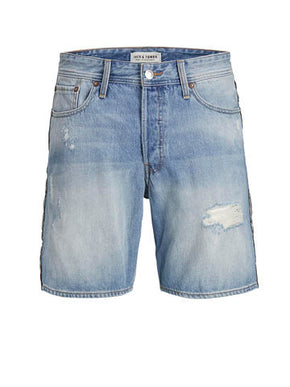 SHORT CHRIS 105 EN DENIM À DÉTAILS RAYÉS