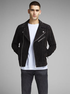 REAL SUEDE BIKER JACKET