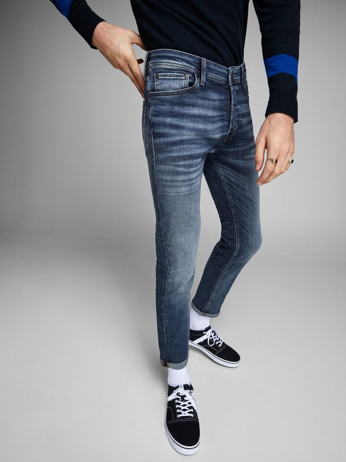 TIM 107 SUPER STRETCH SLIM FIT JEANS BLUE DENIM
