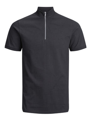 HIGH-NECK ZIPPED POLO