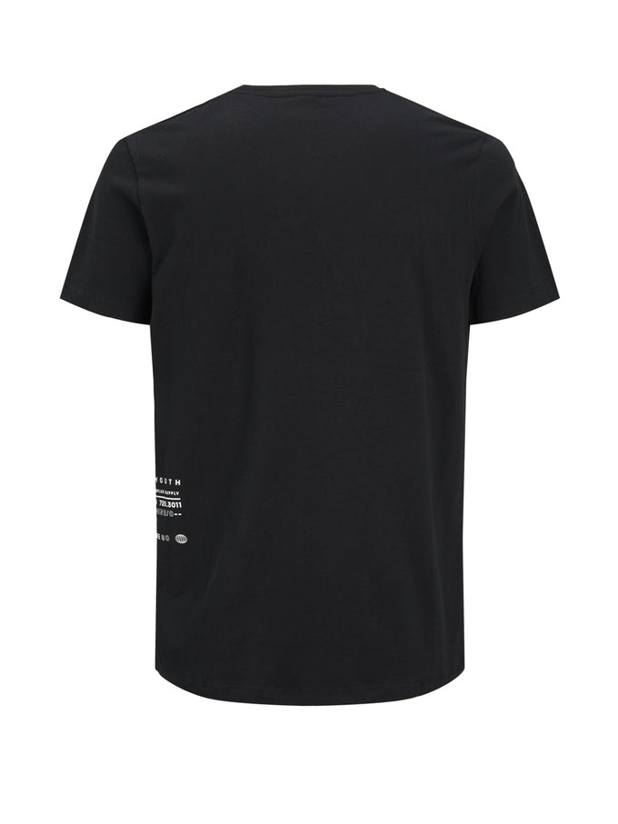 LOOPED TEXT T-SHIRT BLACK