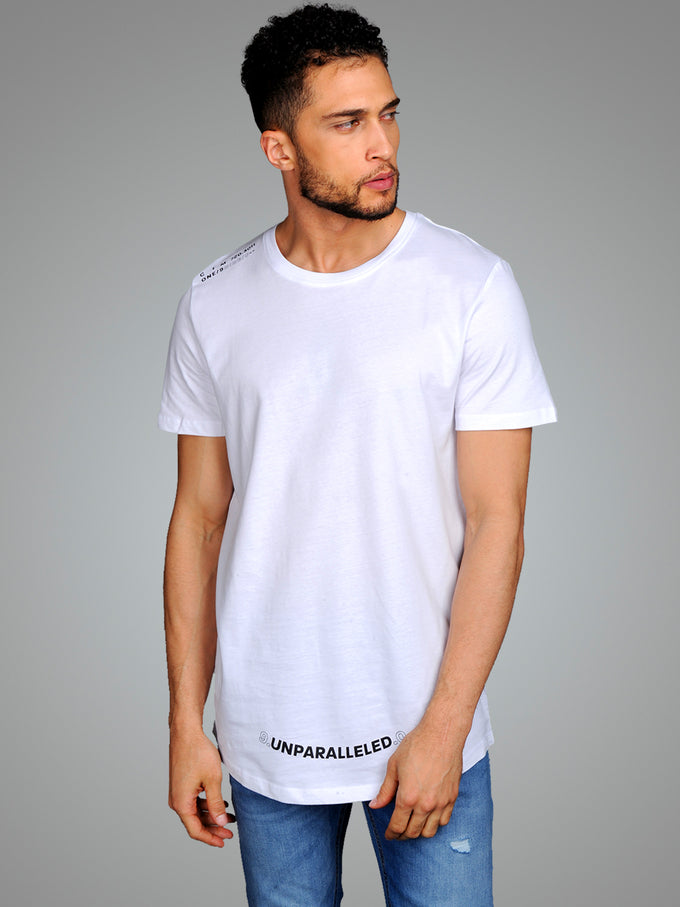 LOOPED TEXT T-SHIRT WHITE
