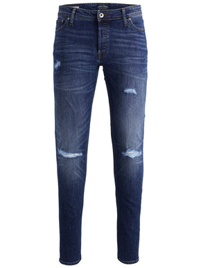 SLIM FIT GLENN 819 JEANS WITH USED DETAILS