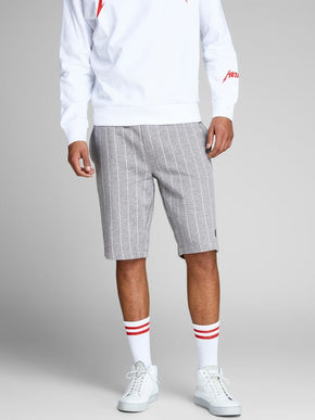 PINSTRIPE SWEAT SHORTS