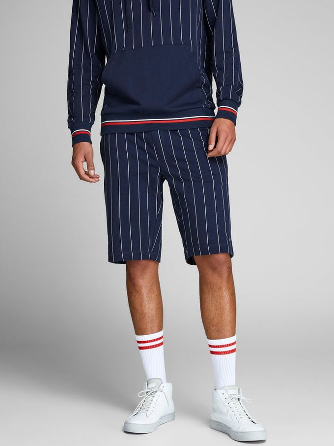 PINSTRIPE SWEAT SHORTS TOTAL ECLIPSE