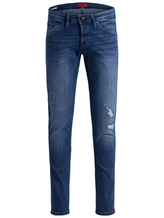SUPER STRETCH SLIM FIT GLENN 795 JEANS BLUE DENIM