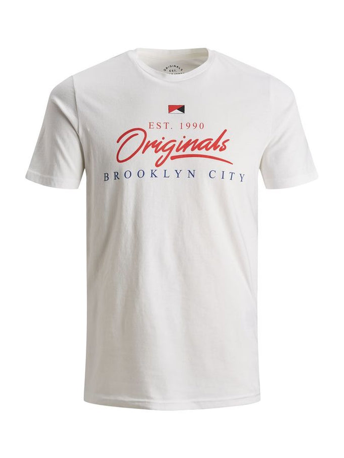 BROOKLYN & CALI T-SHIRT CLOUD DANCER