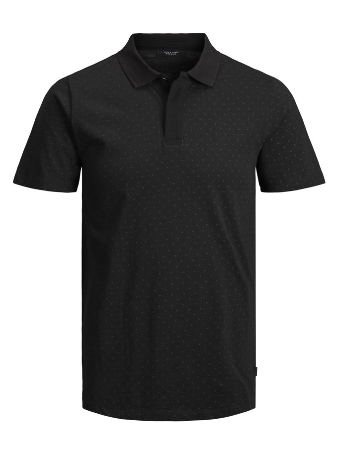 DOTTED POLO BLACK