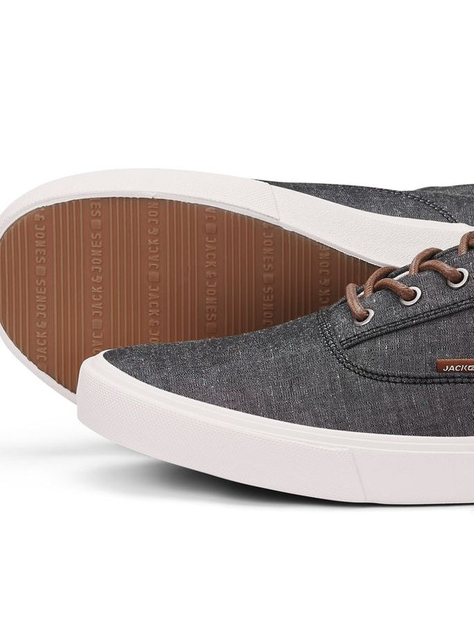 ESPADRILLES STYLE CHAMBRAY EN TOILE ANTHRACITE