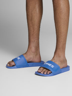 JACK & JONES BLUE POOL SLIDERS