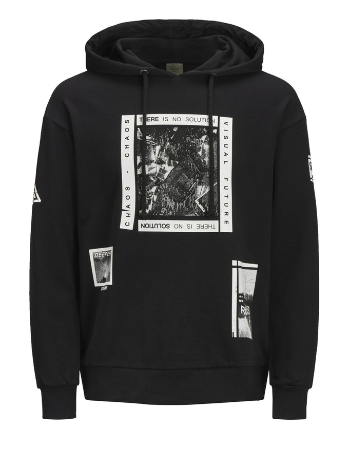 OVERSIZE HOODIE WITH URBAN DETAILS TAP SHOE