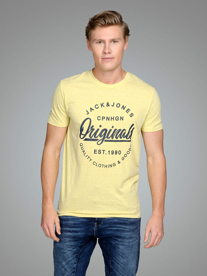 T-SHIRT WITH ORIGINALS LOGO GOLDEN MIST